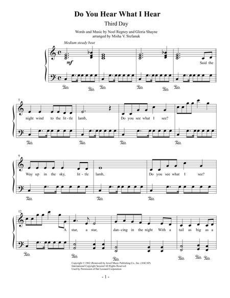 Do You Hear What I Hear, Easy Piano