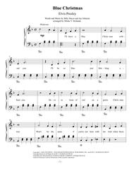 Download Blue Christmas, Easy Piano Sheet Music By Elvis ...