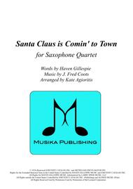 Santa Claus Is Comin' To Town (Easy Arrangement) - for Saxophone Quartet