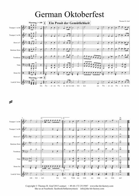German Oktoberfest - 10 German Songs - Brass Quintet