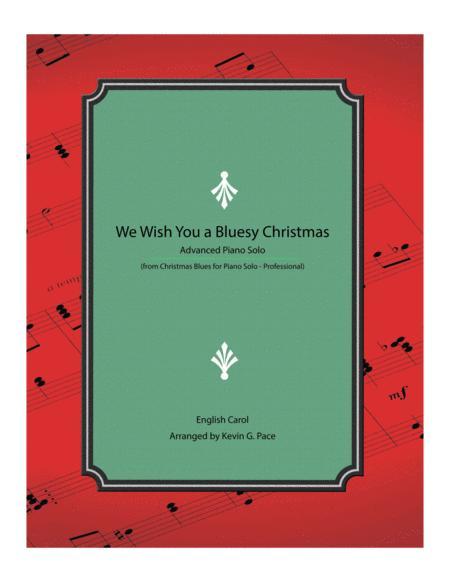 We Wish You a Bluesy Christmas - Advanced Piano Solo