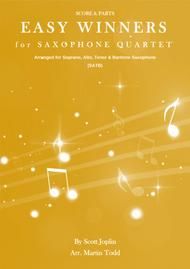 Easy Winners for Saxophone Quartet (SATB)