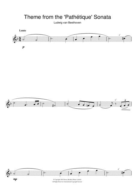 Theme from Pathetique Sonata