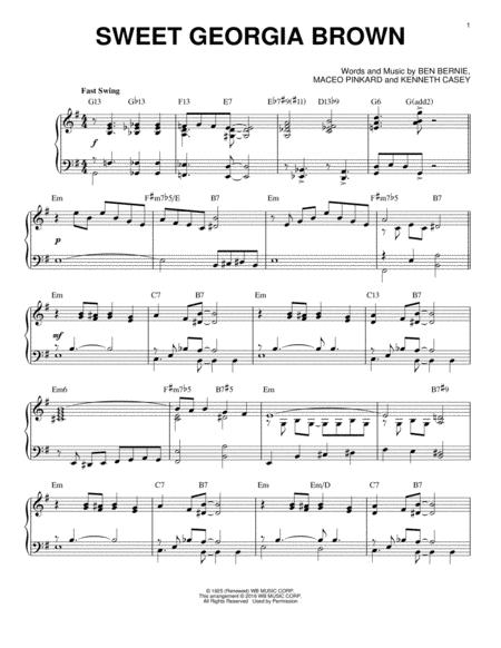 Download Sweet Georgia Brown Sheet Music By Count Basie Sheet