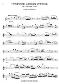 Romance For Violin And Orchestra, No.2 In F Major, Op.50