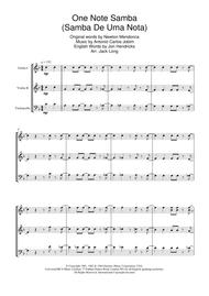 One Note Samba (Samba De Uma Nota)
