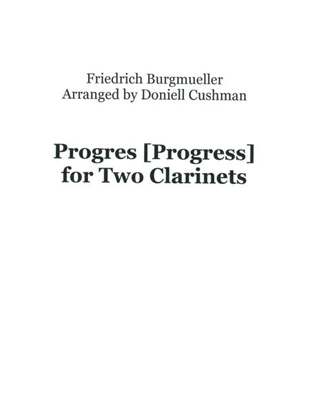 Progres for Two Clarinets