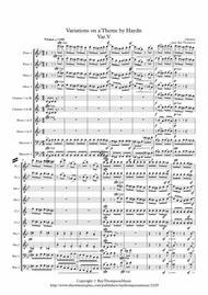 Brahms: Variations on a Theme by Haydn (St.Anthony Chorale) Op56a : Var.V. - wind dectet