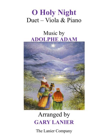 O HOLY NIGHT (Duet – Viola & Piano with Parts)