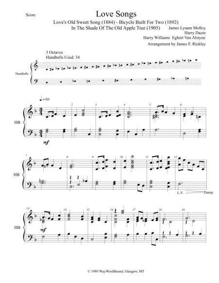 Download Love Songs From 1880s - 1900s Sheet Music By James Lynam