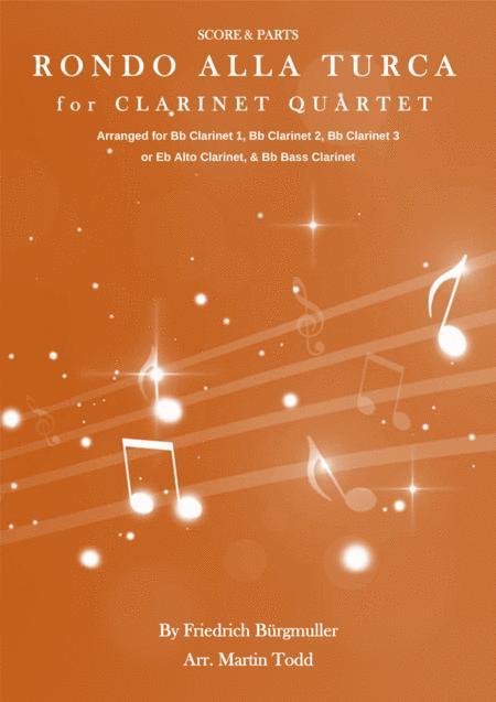 Rondo alla Turca for Clarinet Quartet
