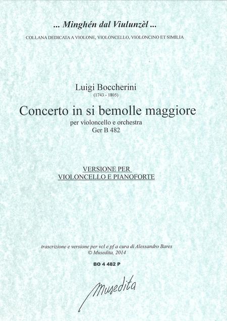 Cello concerto in B flat major G 482 (piano reduction)