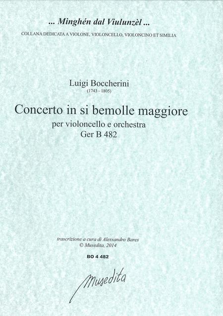Cello concerto in B flat major G 482