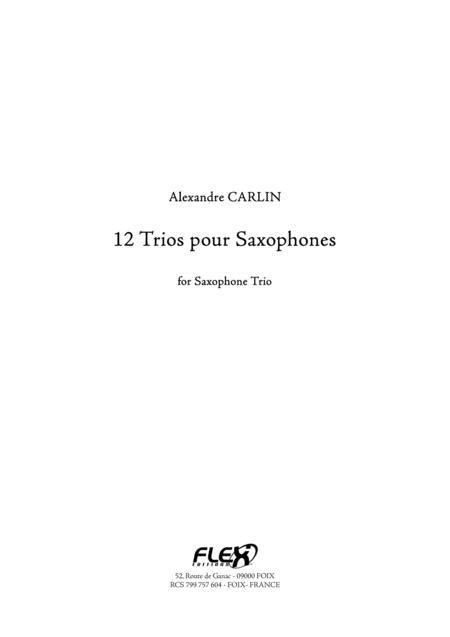 12 Saxophone Trio