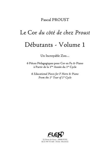 The F Horn du cote de chez Proust - Beginners, Volume 1
