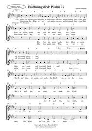 Eröffnungslied: Psalm 27 für Kinderchor (Children's choir)