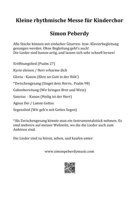 Kleine Messe für Kinderchor (rhythmical mass for children's choir)