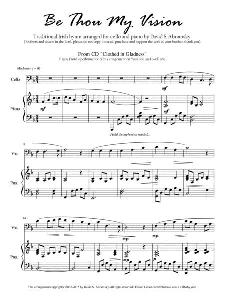 Be Thou My Vision (arr. for cello and piano)
