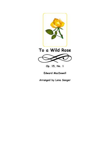 To a Wild Rose (two violins and cello)
