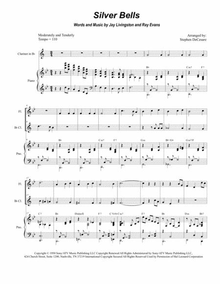 Silver Bells (Duet for Flute and Bb-Clarinet)