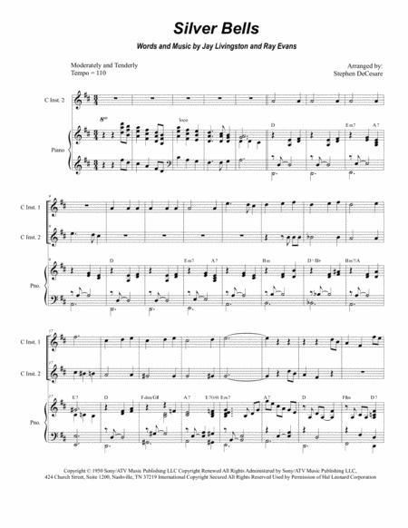 Silver Bells (Duet for C-Instruments)