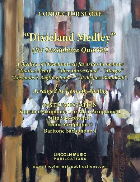 Dixieland Medley (for Saxophone Quartet SATB or AATB)