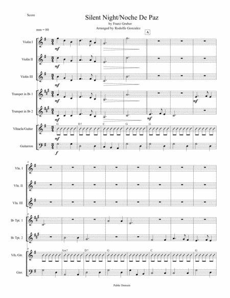 Silent Night/Noche De Paz for Mariachi Ensemble