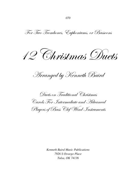 12 Christmas Duets for Bass Clef Instruments