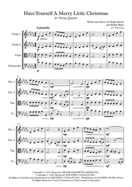 Have Yourself A Merry Little Christmas Violin Sheet Music.Download Have Yourself A Merry Little Christmas String