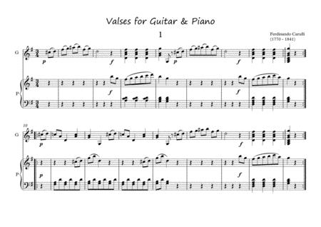Valses for Guitar and Piano duet by Carulli