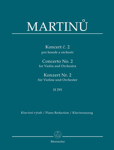 Concerto for Violin and Orchestra Nr. 2 H 293