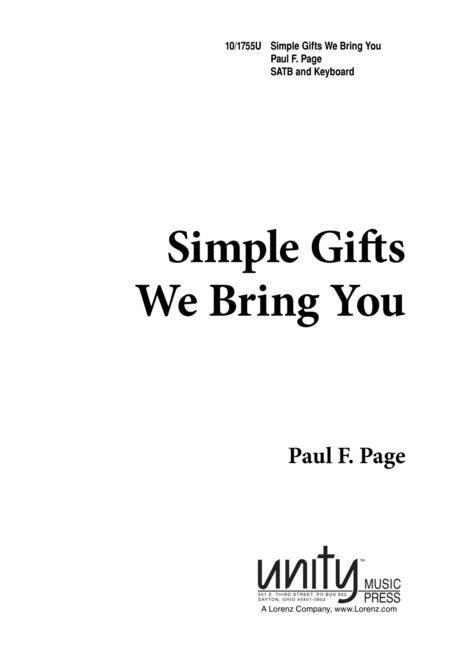 Simple Gifts We Bring You