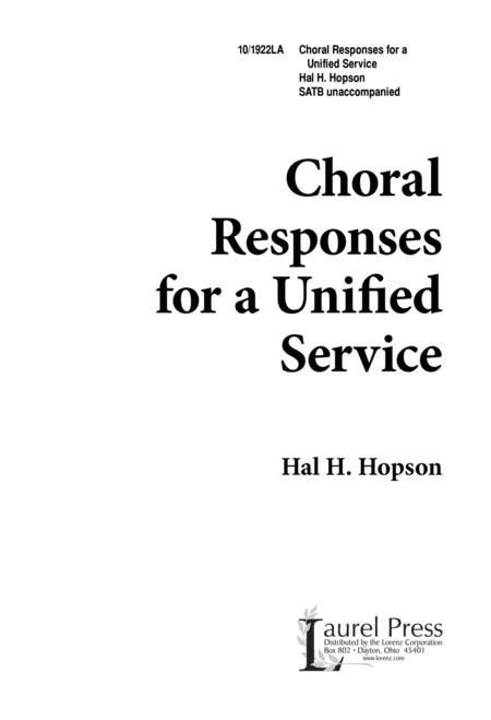 Choral Responses for a Unified Service