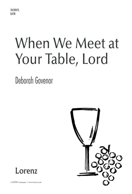 When We Meet At Your Table, Lord