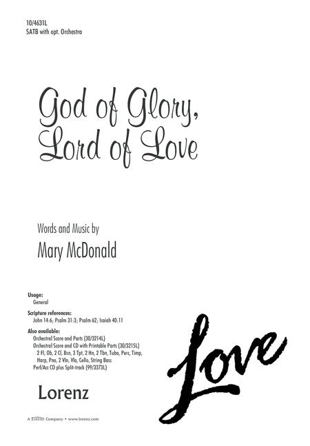 God of Glory, Lord of Love