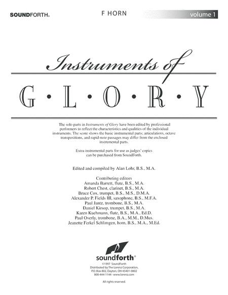 Instruments of Glory, Vol. 1 - F Horn