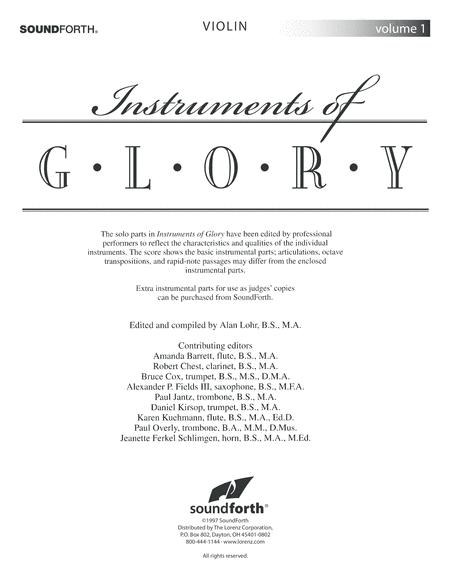 Instruments of Glory, Vol. 1 - Violin