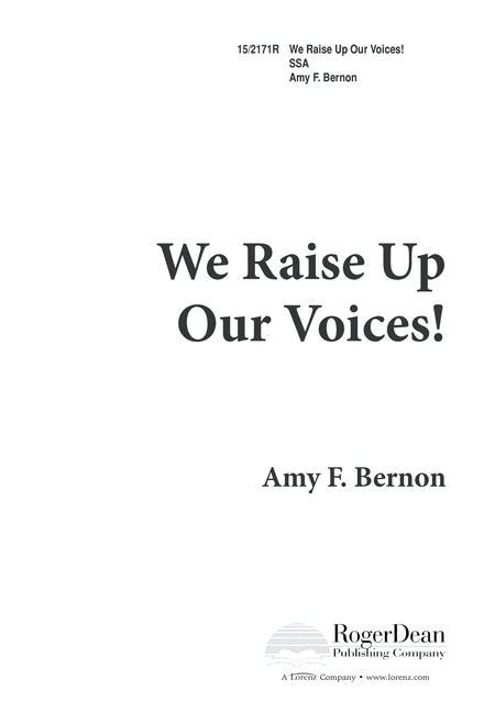 We Raise Up Our Voices!