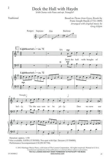 Preview Deck The Hall With Haydn By Greg Gilpin (LX 15-3039H