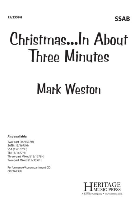 Christmas In About Three Minutes.Preview Christmas In About Three Minutes By Mark Weston
