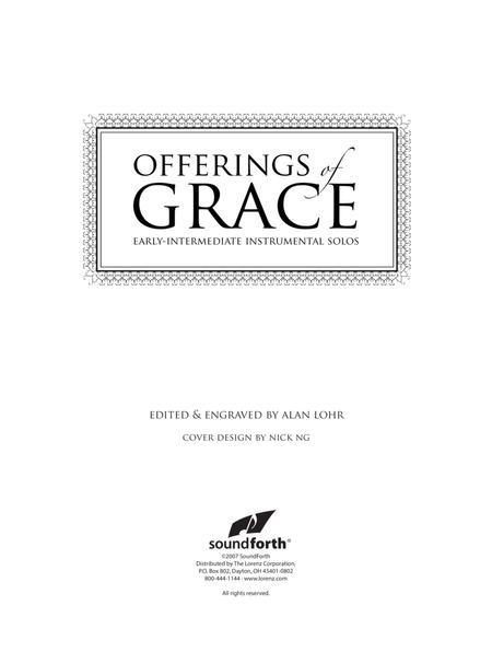 Offerings of Grace - Flute