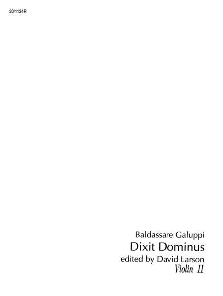 Dixit Dominus - Violin II