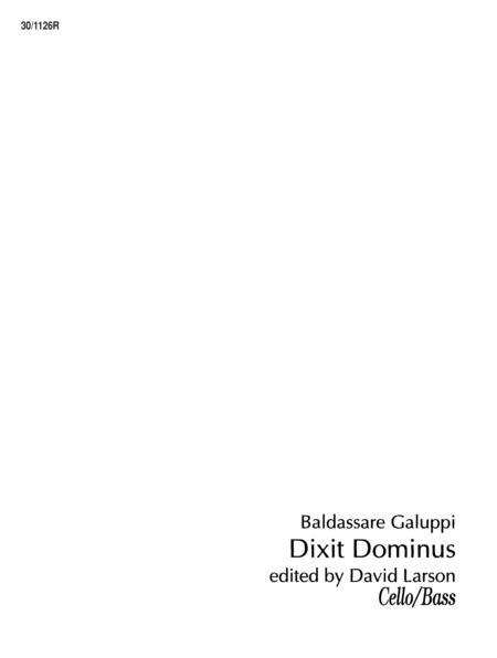 Dixit Dominus - Cello/Bass