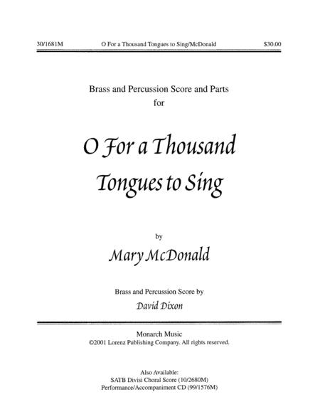 O For a Thousand Tongues to Sing! - Brass/Perc Score