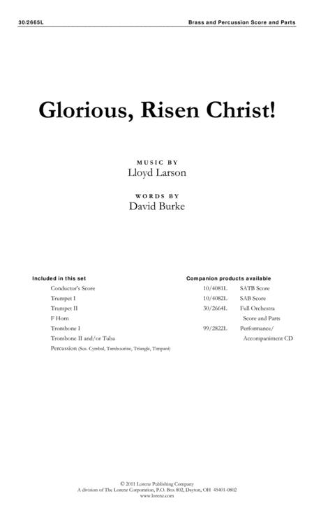 Glorious, Risen Christ! - Brass and Percussion Score and Parts
