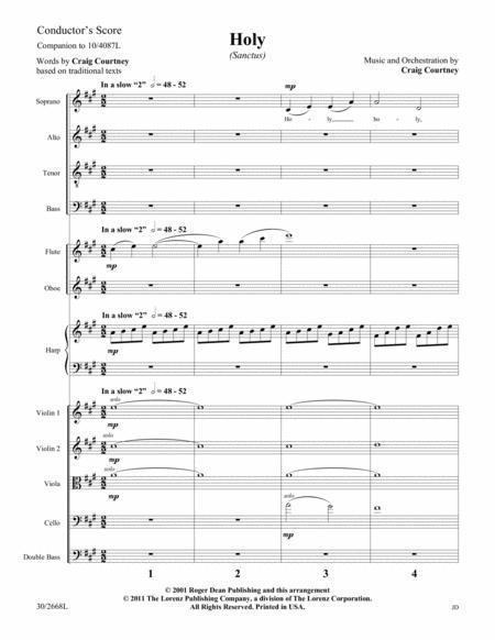 Holy (Sanctus) - Instrumental Ensemble Score and Parts