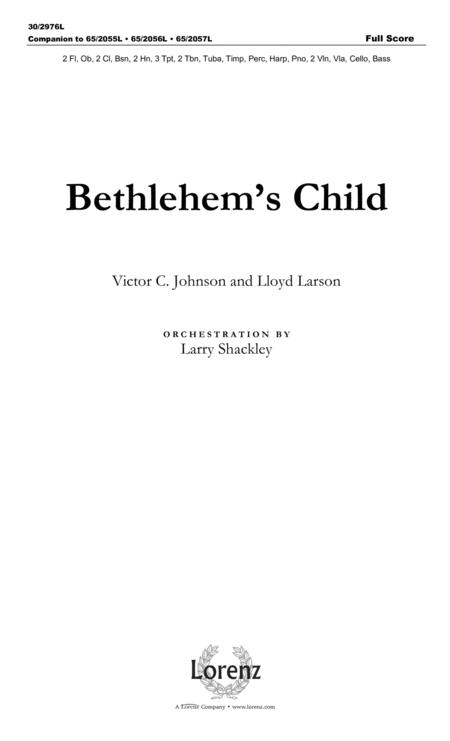 Bethlehem's Child - Full Score