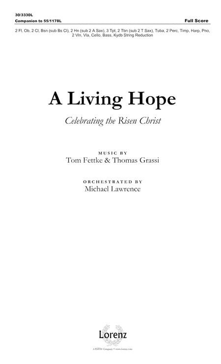 A Living Hope - Full Score