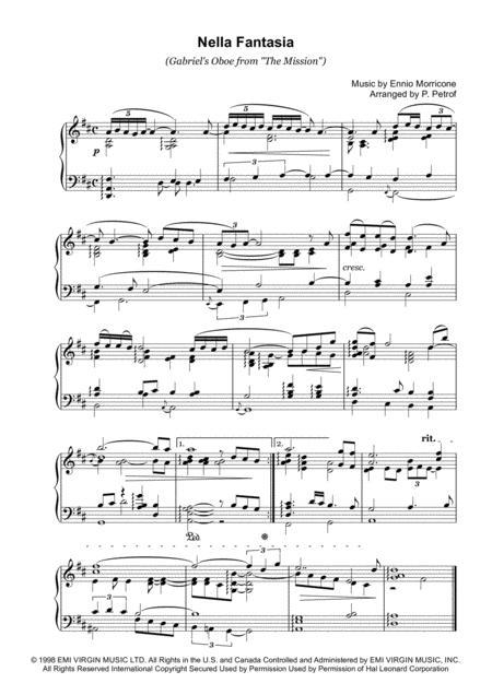 Nella Fantasia (Gabriel's Oboe from