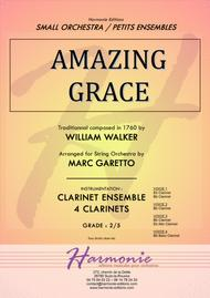 AMAZING GRACE - Traditionnal - for CLARINET Quartet - Arranged by Marc Garetto